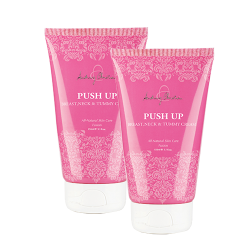 (TWIN PACK) PUSH UP Bryst-, Hals og Magekrem
